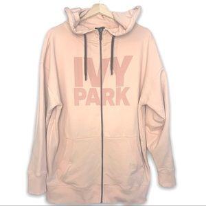 Ivy Park Oversized Pink Zip-up Hoodie